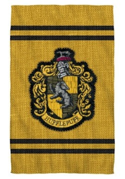 Harry Potter Hufflepuff Stitch Crest Bath Towel