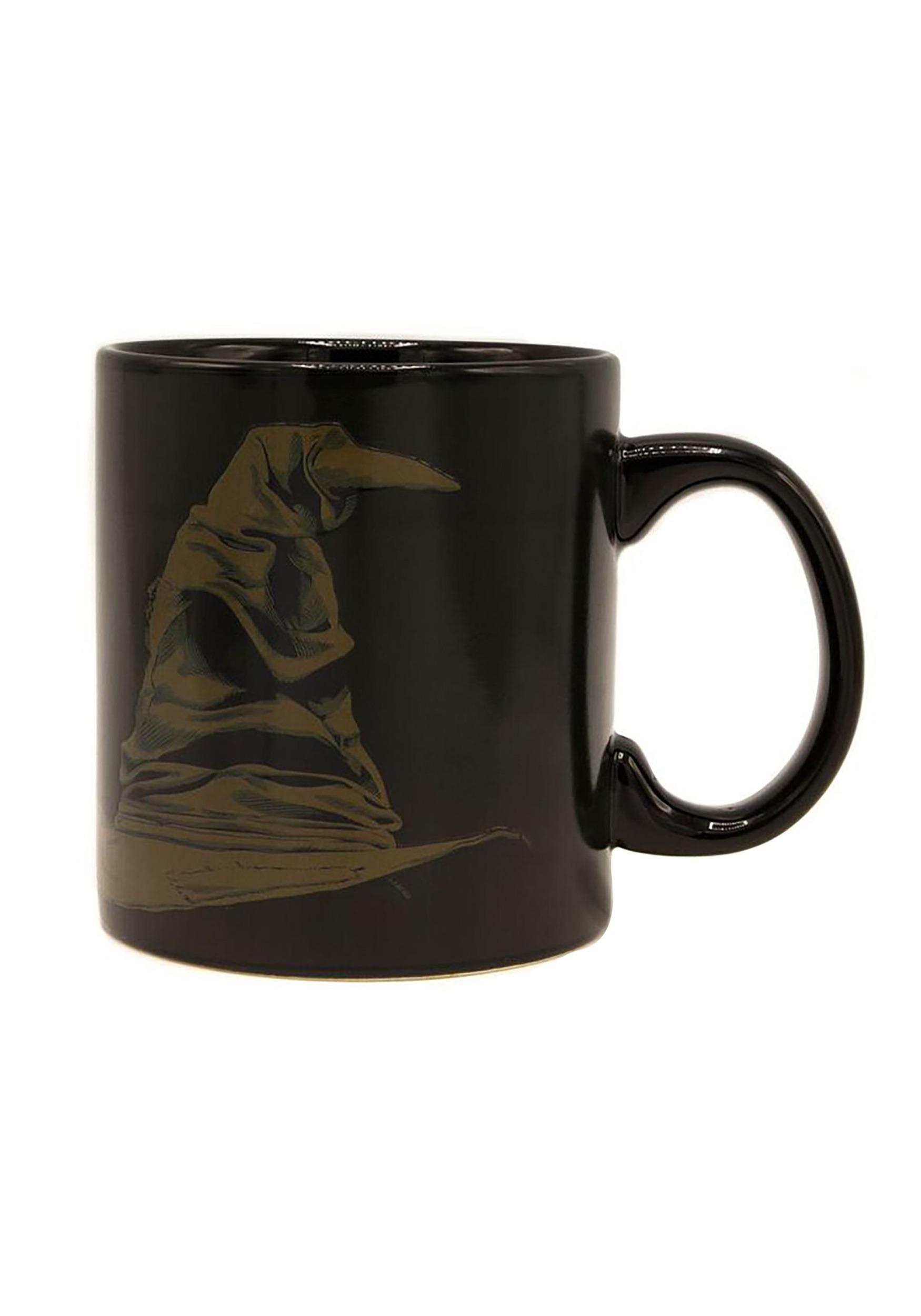 hogwarts gryffindor heat reveal sorting hat mug
