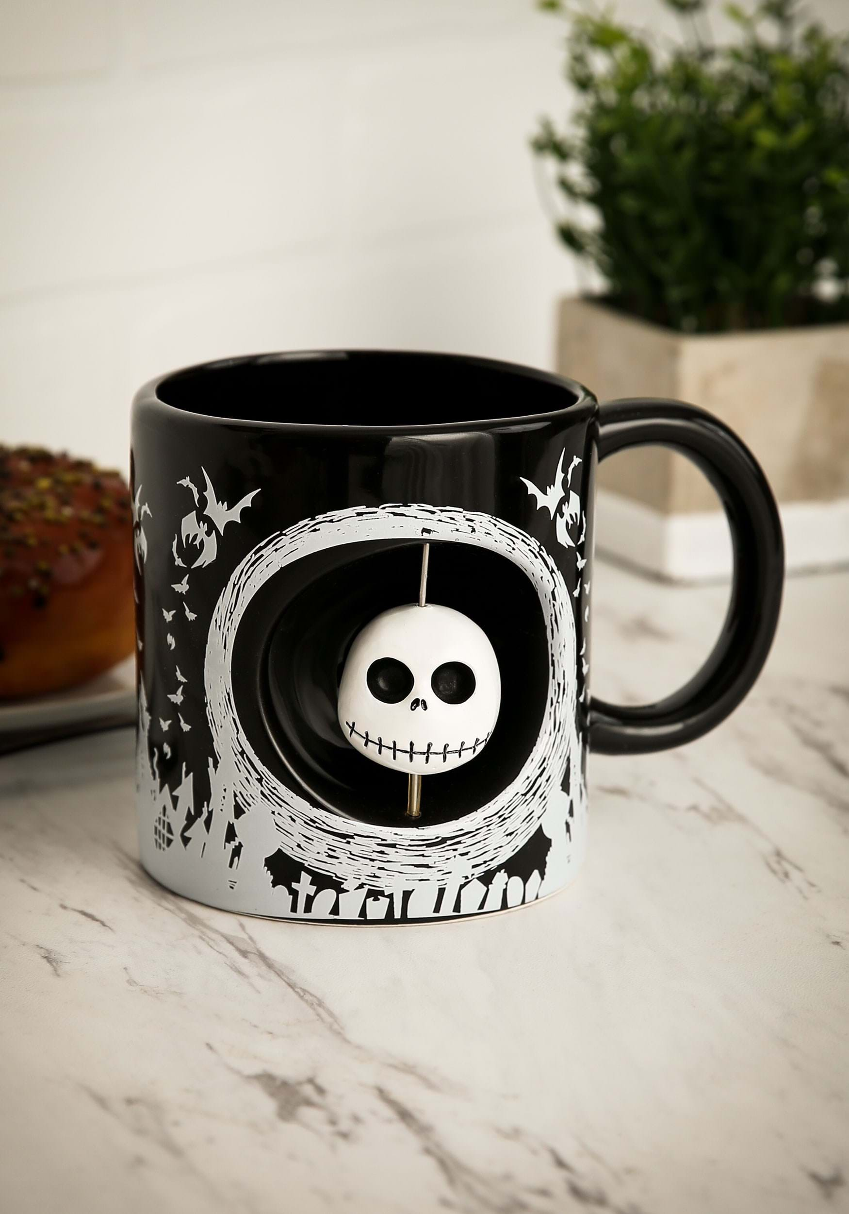 Nightmare Before Christmas Jack and Boogeyman Coffee Mug