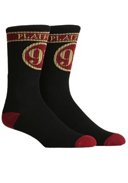 Harry Potter Platform 9 3 4 Adult Premium Crew Socks