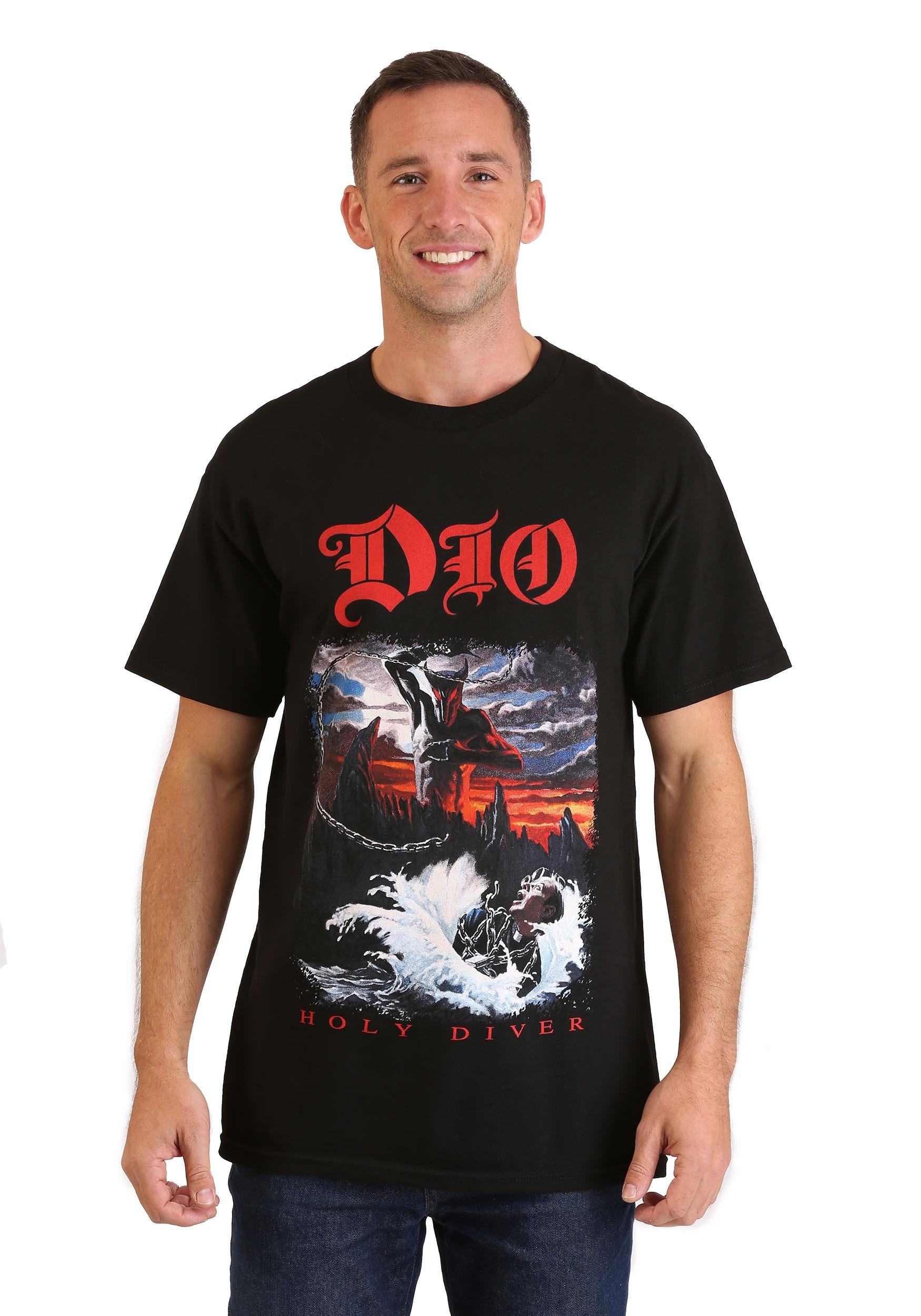 Mens dio holy diver black t shirt