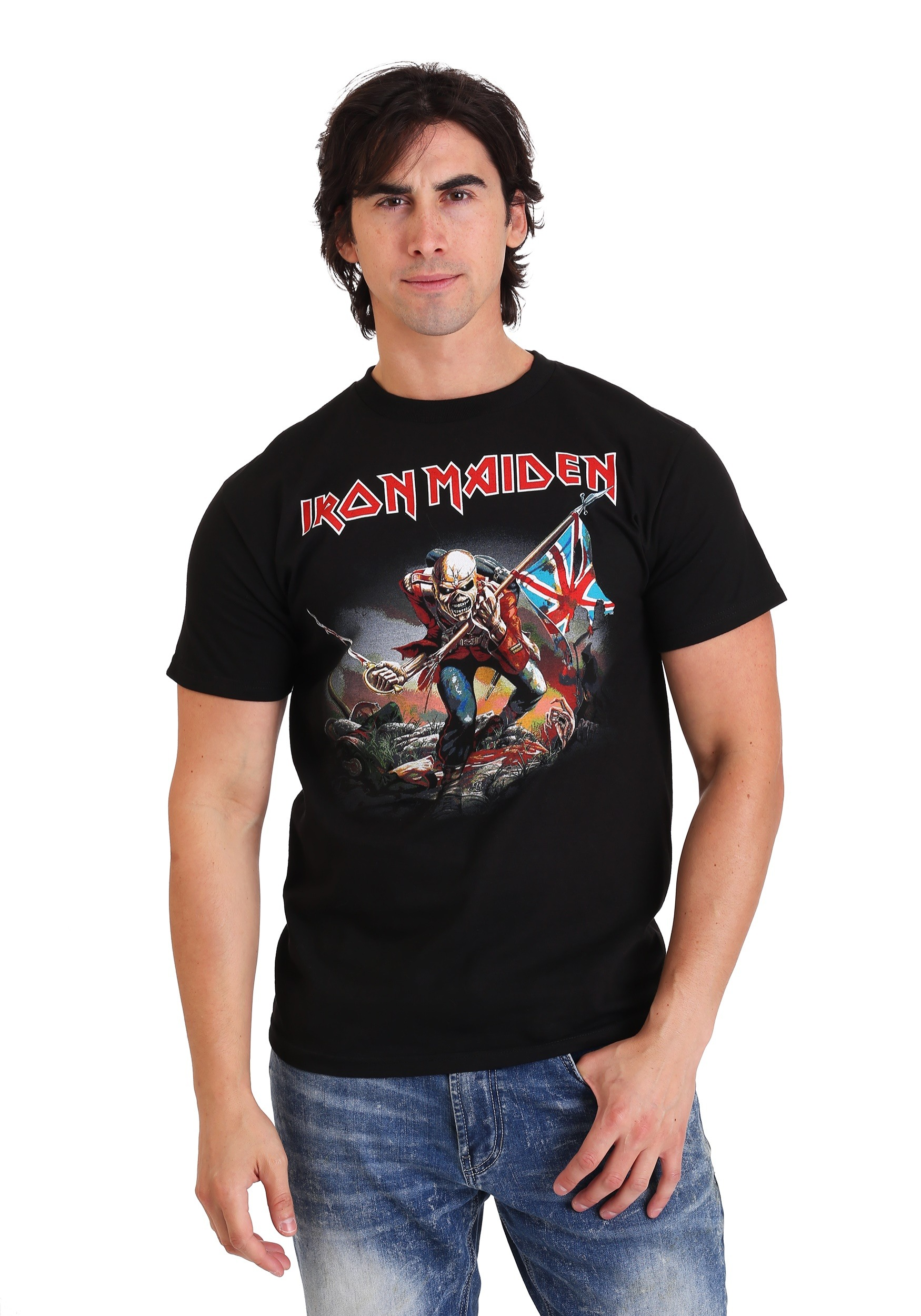 f60abfd0 Iron Maiden The Trooper Men's Black T-Shirt