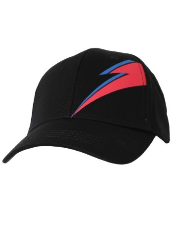 David Bowie Stardust Bolt Black Baseball Snapback Hat-update