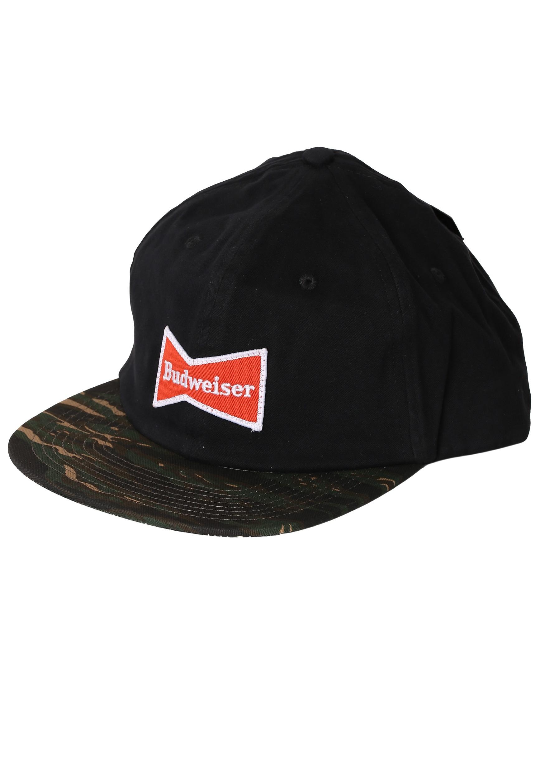Budweiser Bowtie Black and Camo Baseball Hat HSGSABJ-100074