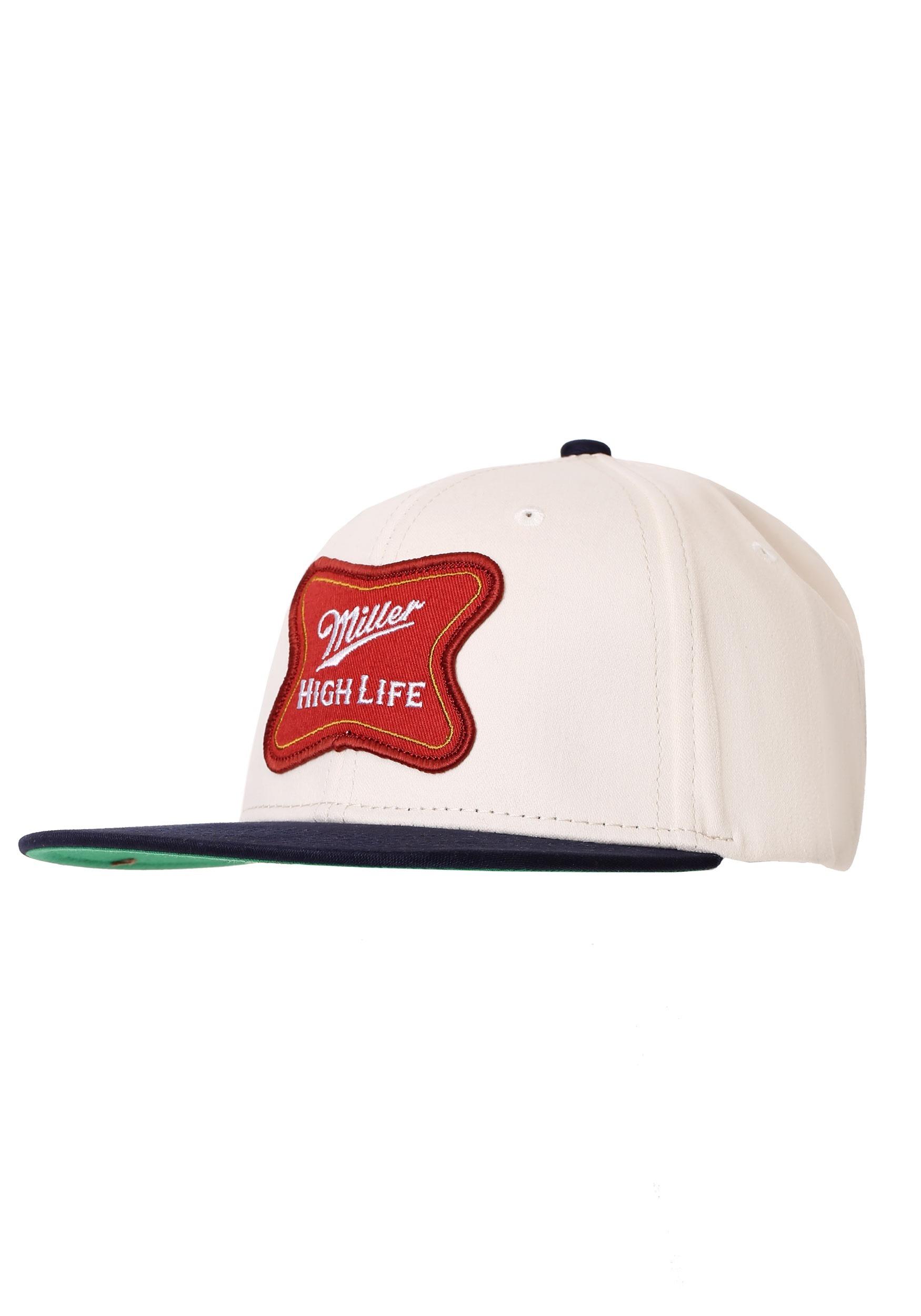 5ef0fe8b65e Miller high life logo cotton twill snapback hat alt jpg 1750x2500 High life  hat