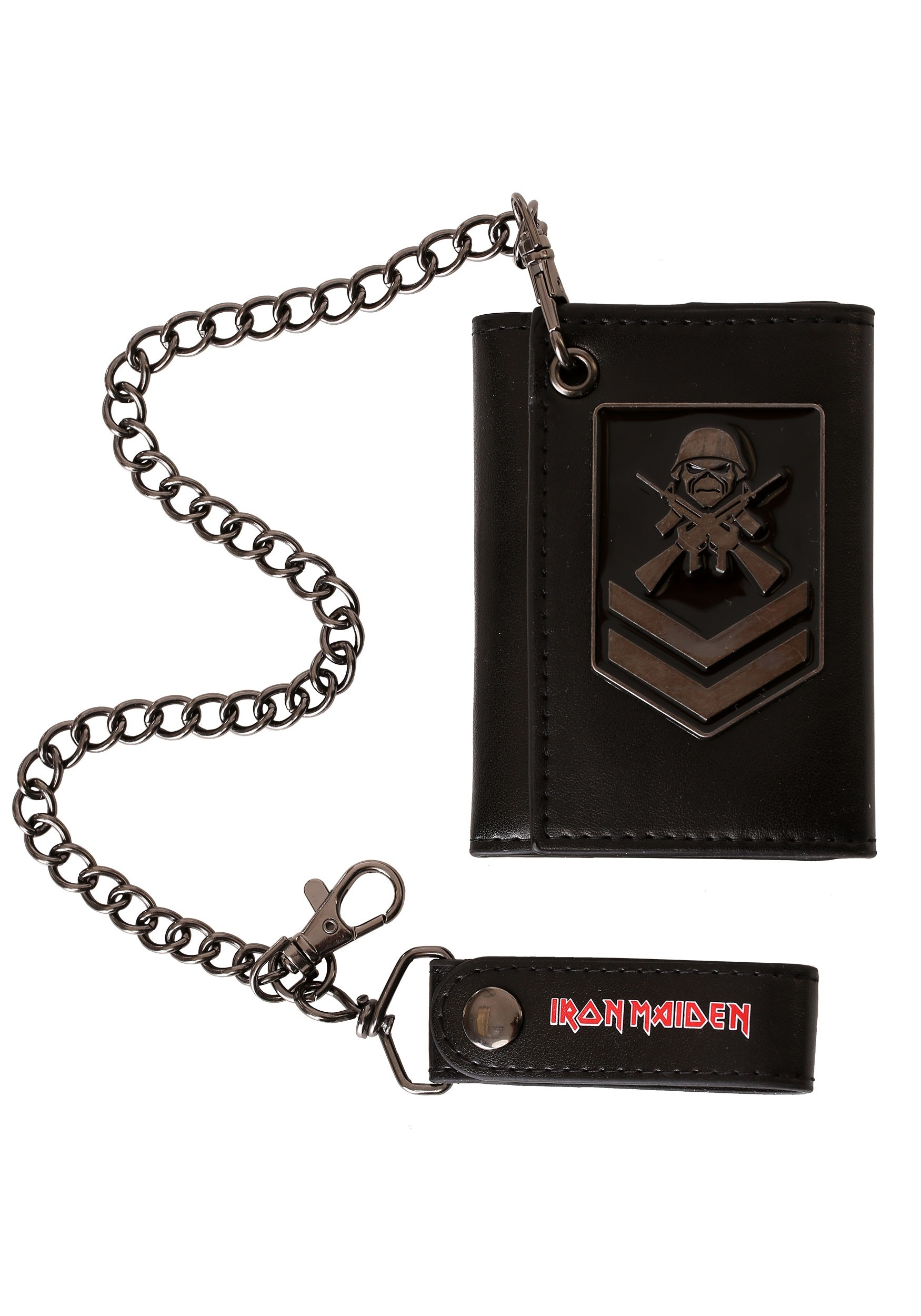 Iron Maiden A Matter of Life and Death Black PU Leather tril--fold ...