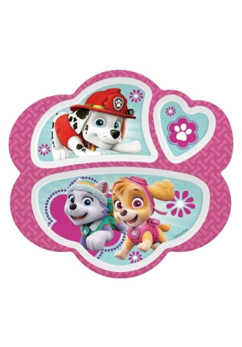 Paw Patrol Gir'ls 3 Section Plate