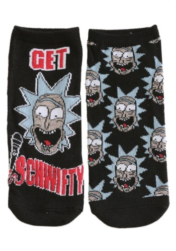 Rick and Morty Characters 5 Pair Pack Lowcut Womens Socks
