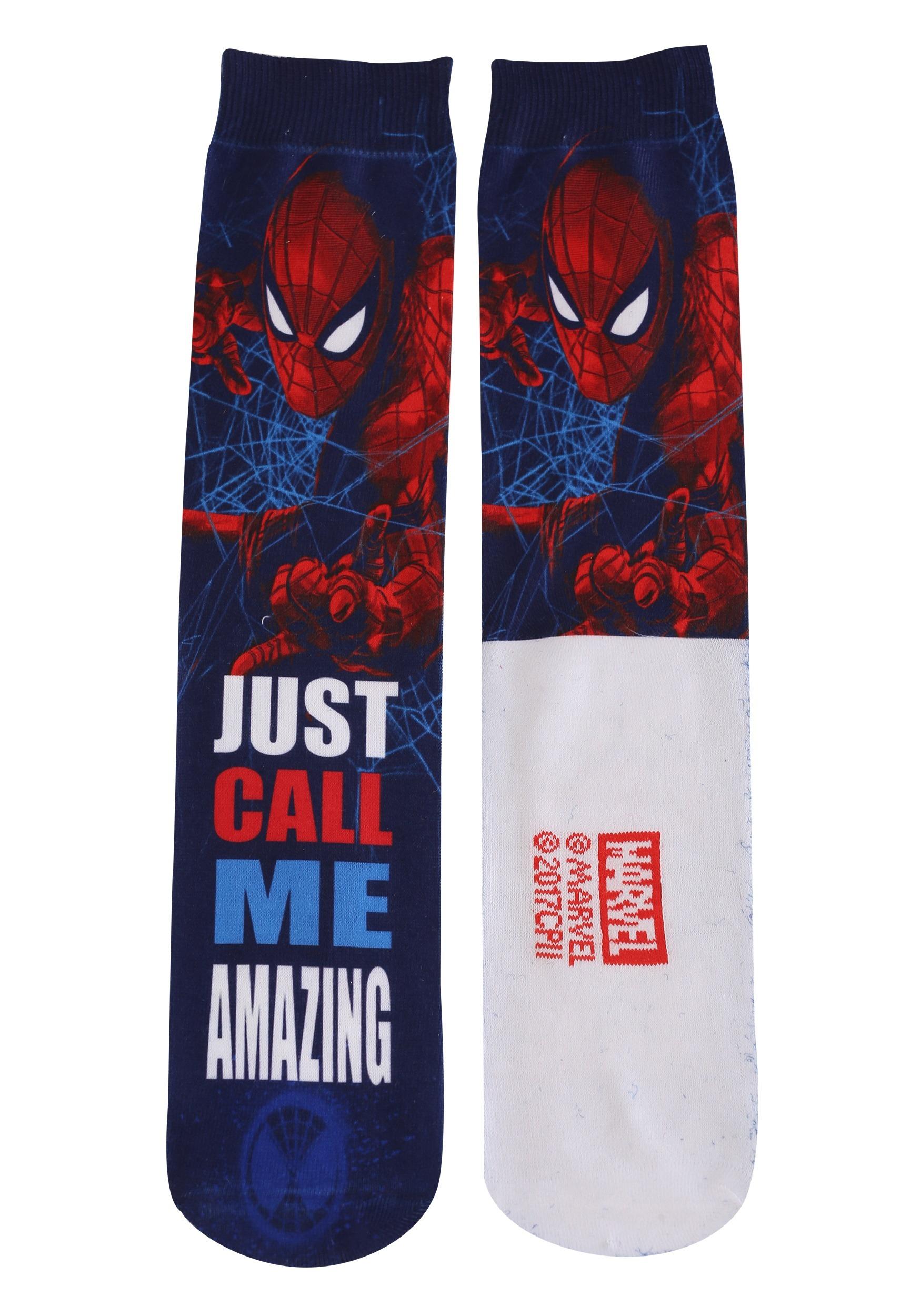 Adult spider man photoreal 2 pack crew socks