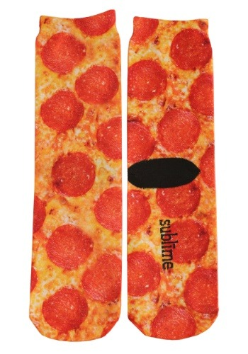 Pizza Adult Crew Socks