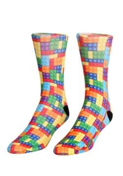Building Bricks Adult Crew Socks