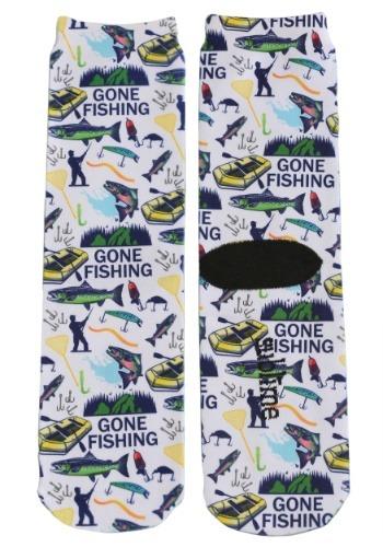 Gone Fishing Adult Crew Socks