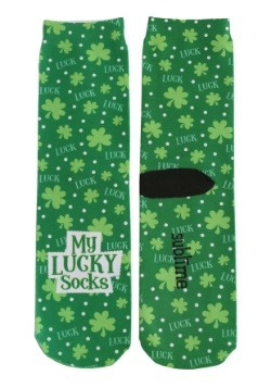 Saint Patrick's Day Lucky Adult Crew Socks
