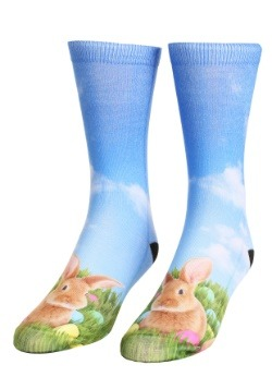Easter Bunny Adult Crew Socks