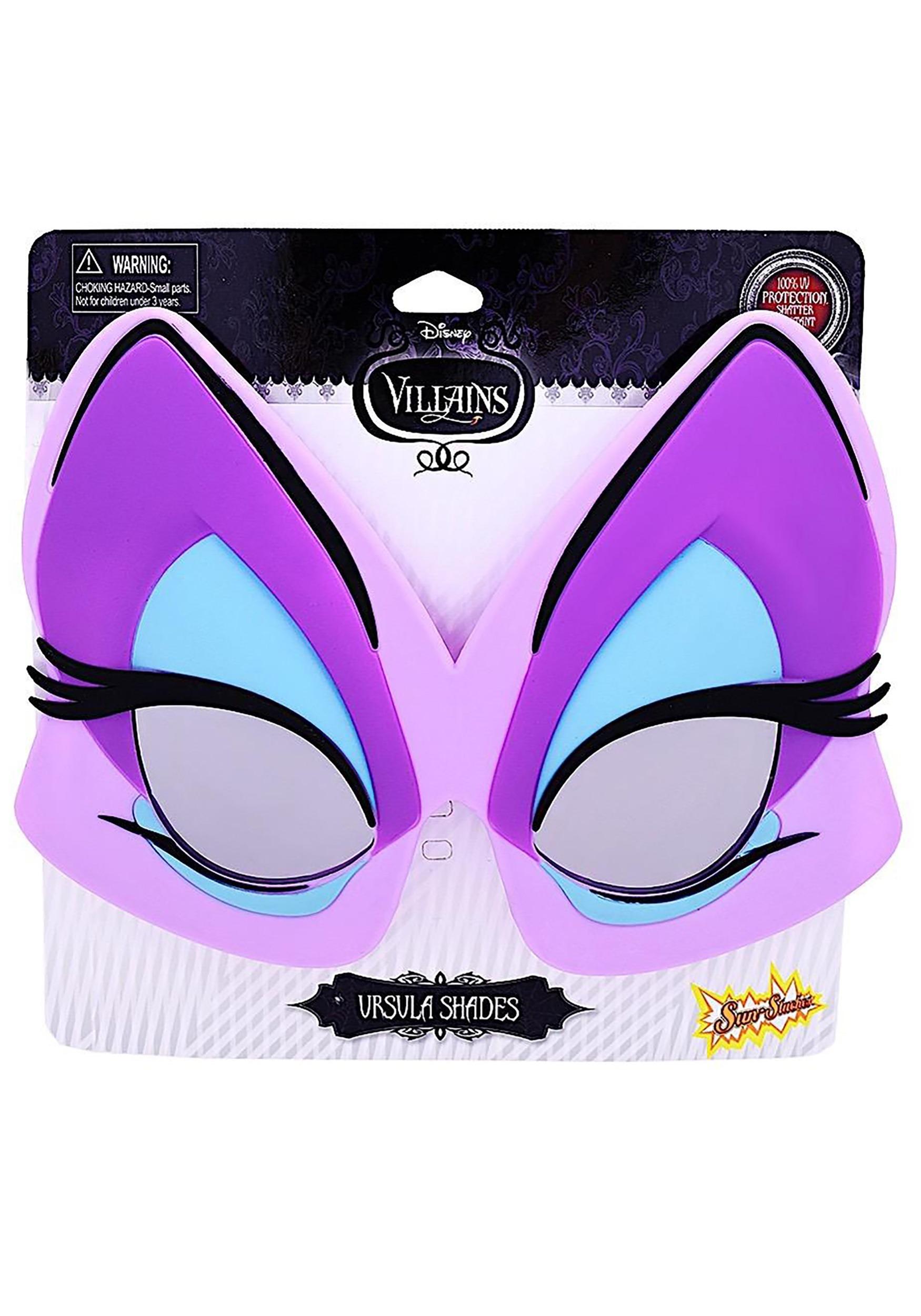 Disney The Little Mermaid Urusla Purple Cat Eye Sunglasses