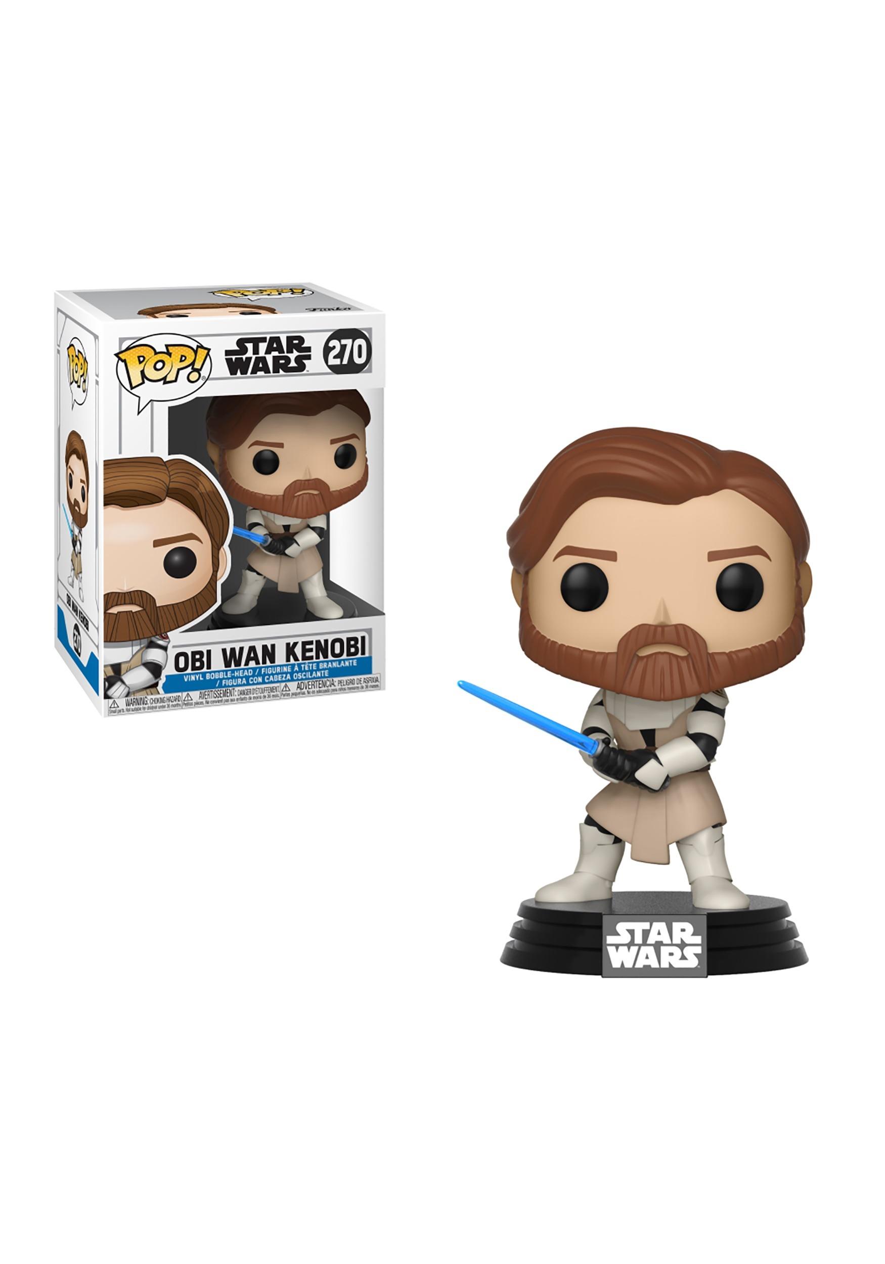 Pop Star Wars Clone Obi Wan Kenobi Bobblehead Figure Fiction Blouse With Off White