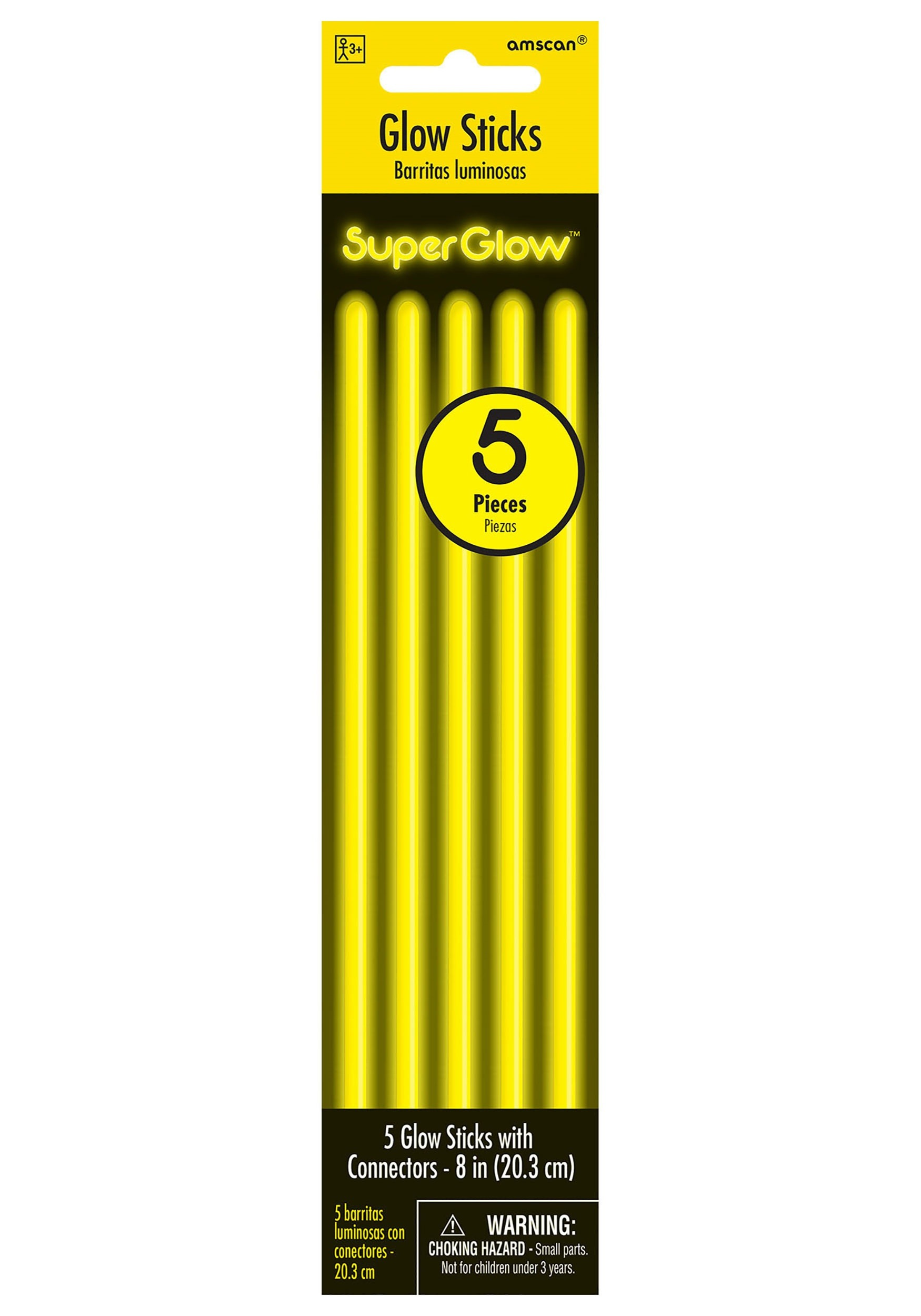 5_Pack_of_Yellow_Glowsticks