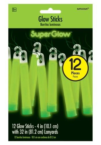 "Green Glowsticks - 4"" Pack of 12"