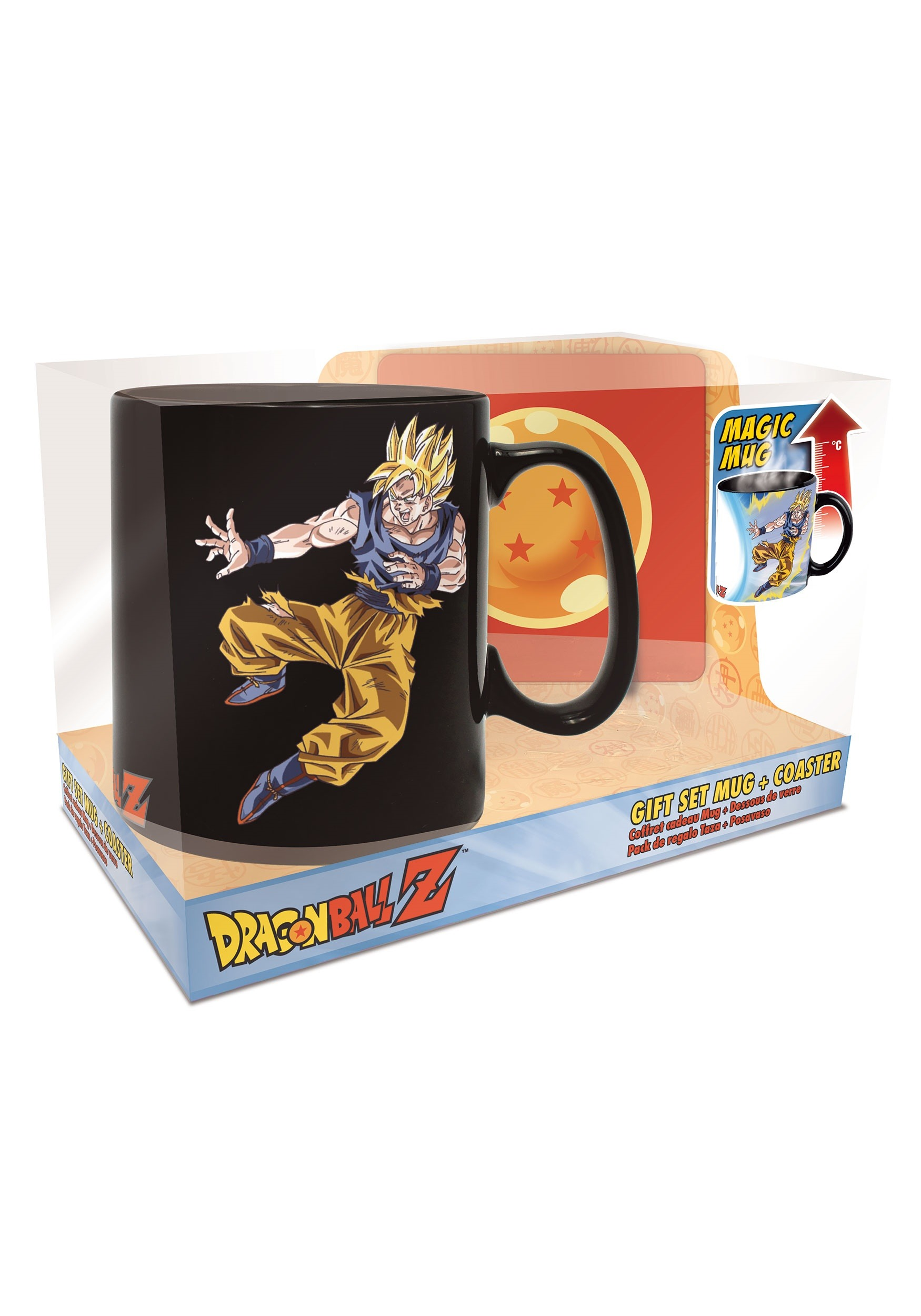 Heat Change Mug Coaster Set: Dragon Ball Z Goku Buu