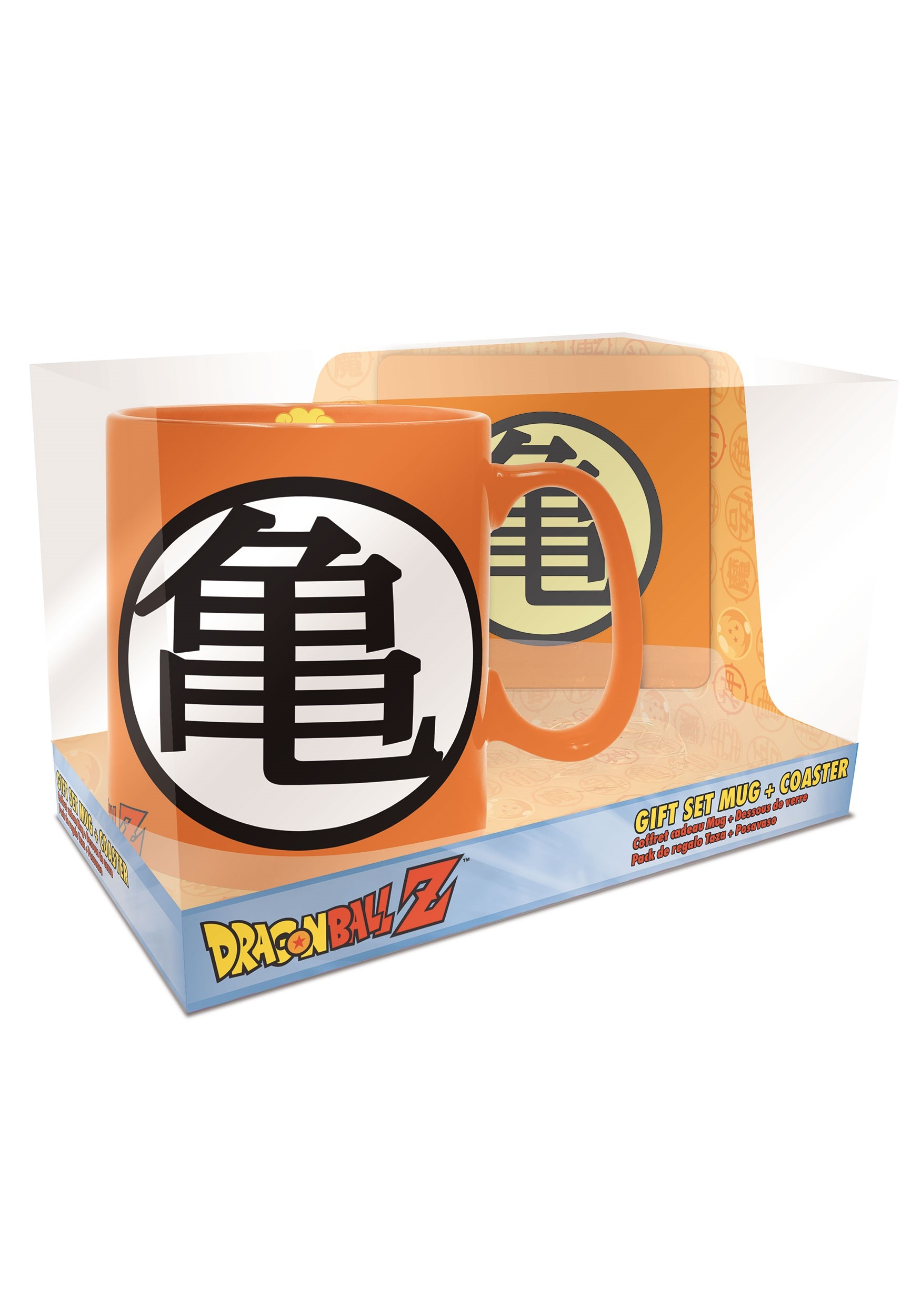 Mug & Coaster Gift Set Dragon Ball Z Goku Symbol