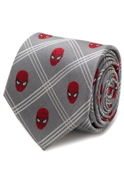 Spider-Man Gray Plaid Tie
