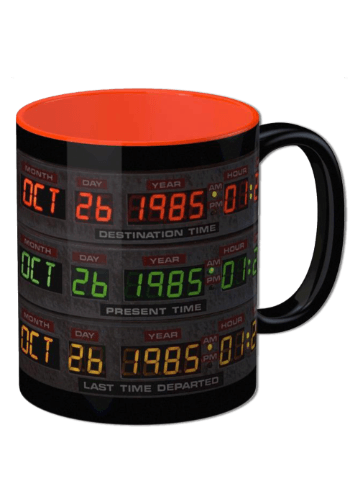BACK TO THE FUTURE DELOREAN CONTROL PANEL CERAMIC MUG