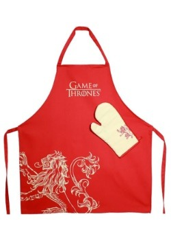 LANNISTER GAME OF THRONES APRON AND OVEN MITT SET