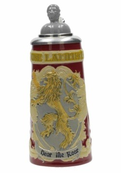 HOUSE LANNISTER GAME OF THRONES CERAMIC STEIN