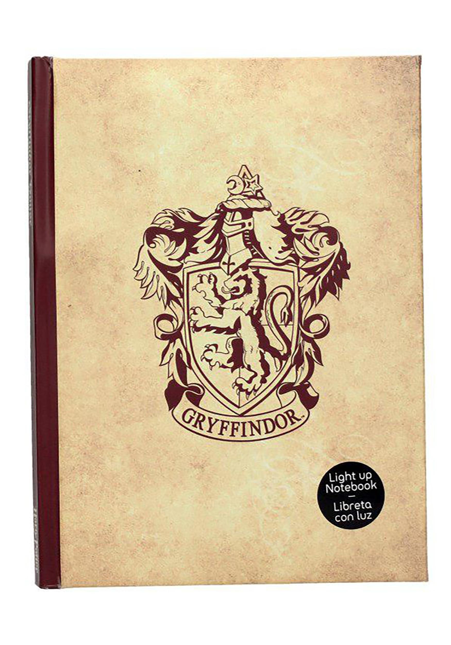 Harry Potter Gryffindor Light Up Ruled Notebook