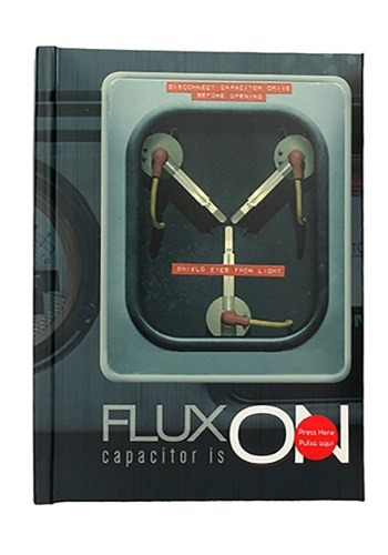 EAN 8436546890973 product image for Back To The Future Flux Capacitor Notebook w/Light | upcitemdb.com