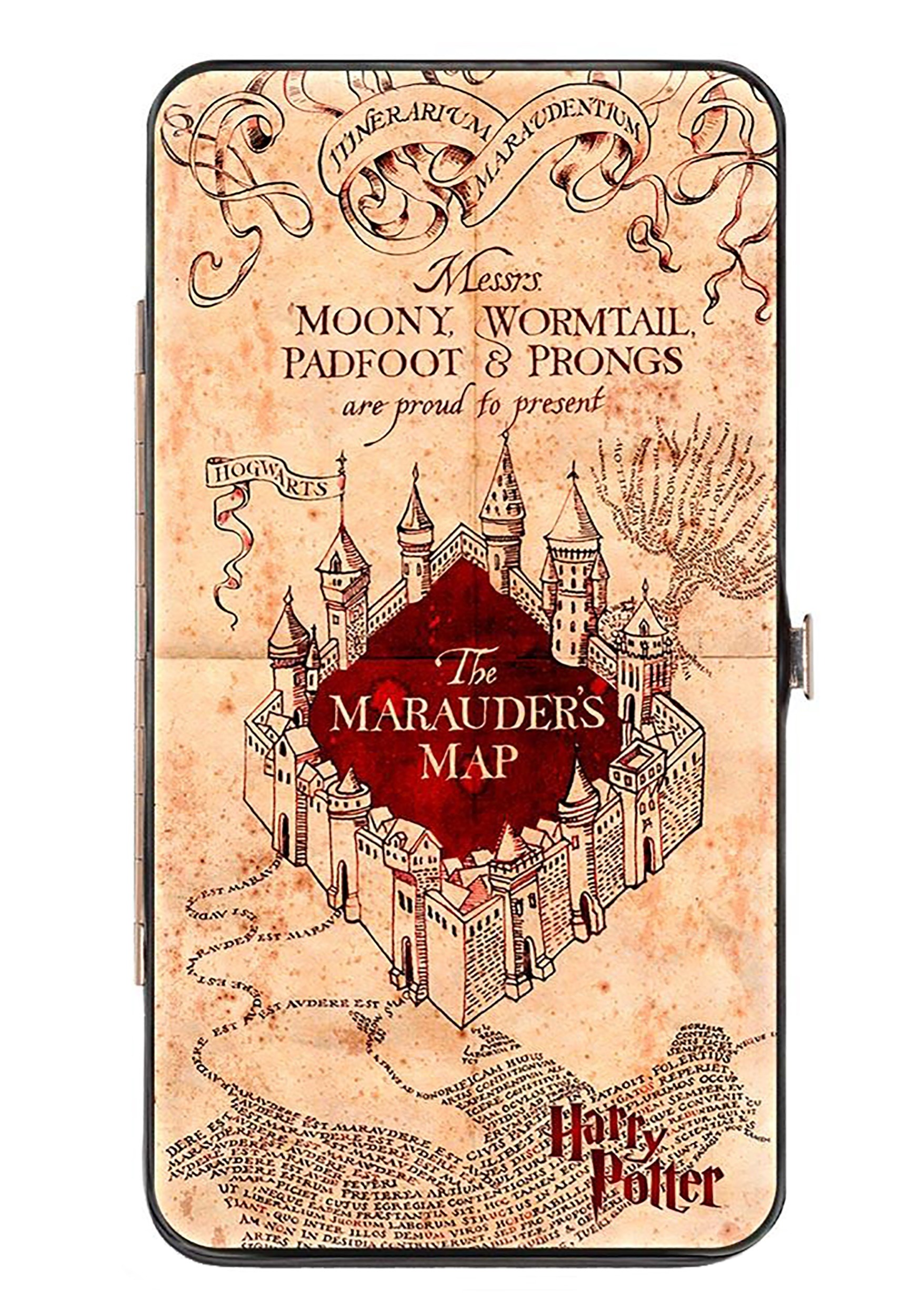 Harry Potter Marauder's Map Hinged Wallet on secret s map harry potter, map in game of thrones, map harry potter books, fictional map harry potter,