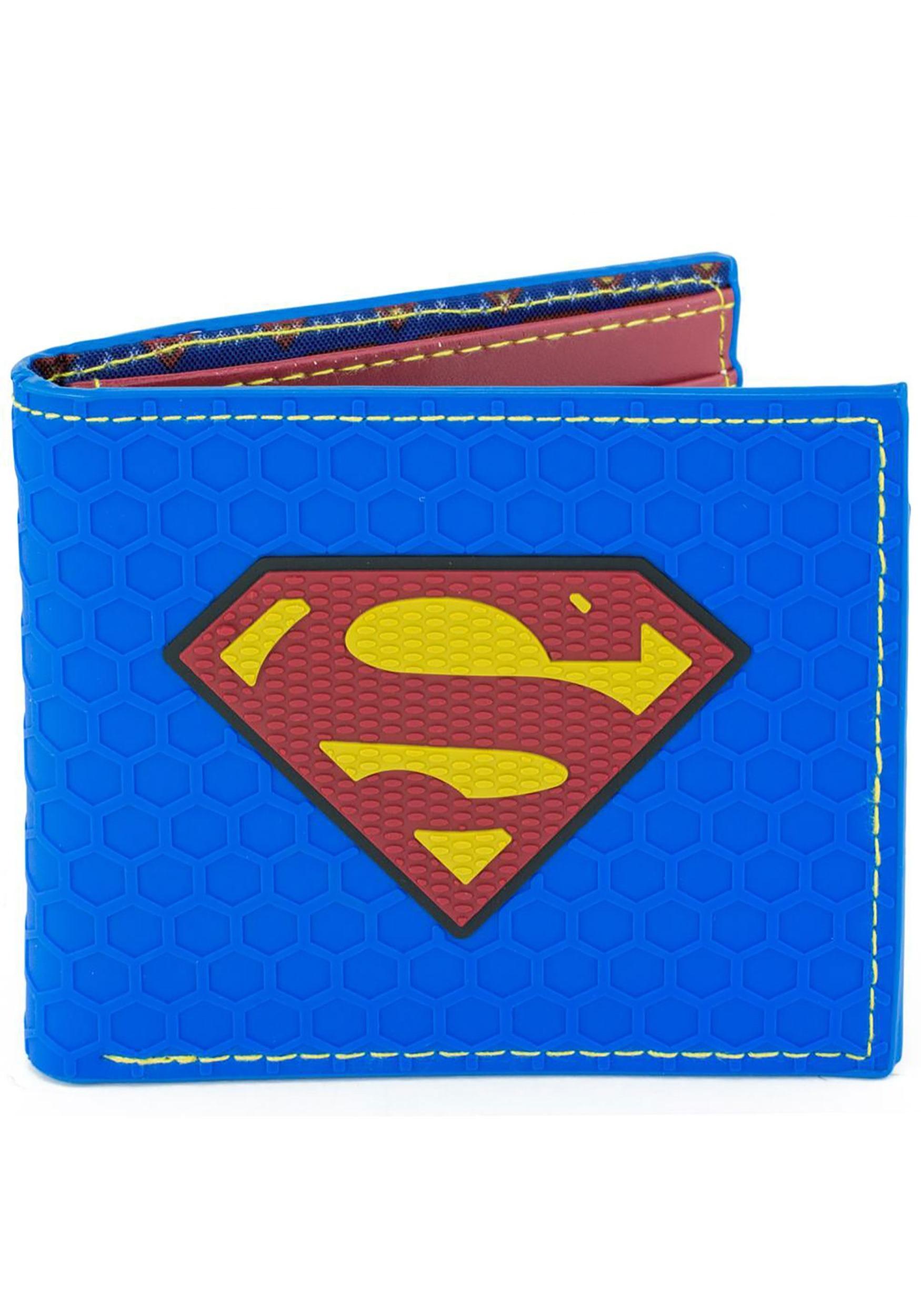 af653ecb6d4da1 DC Superman Logo Bi-Fold Rubber Wallet
