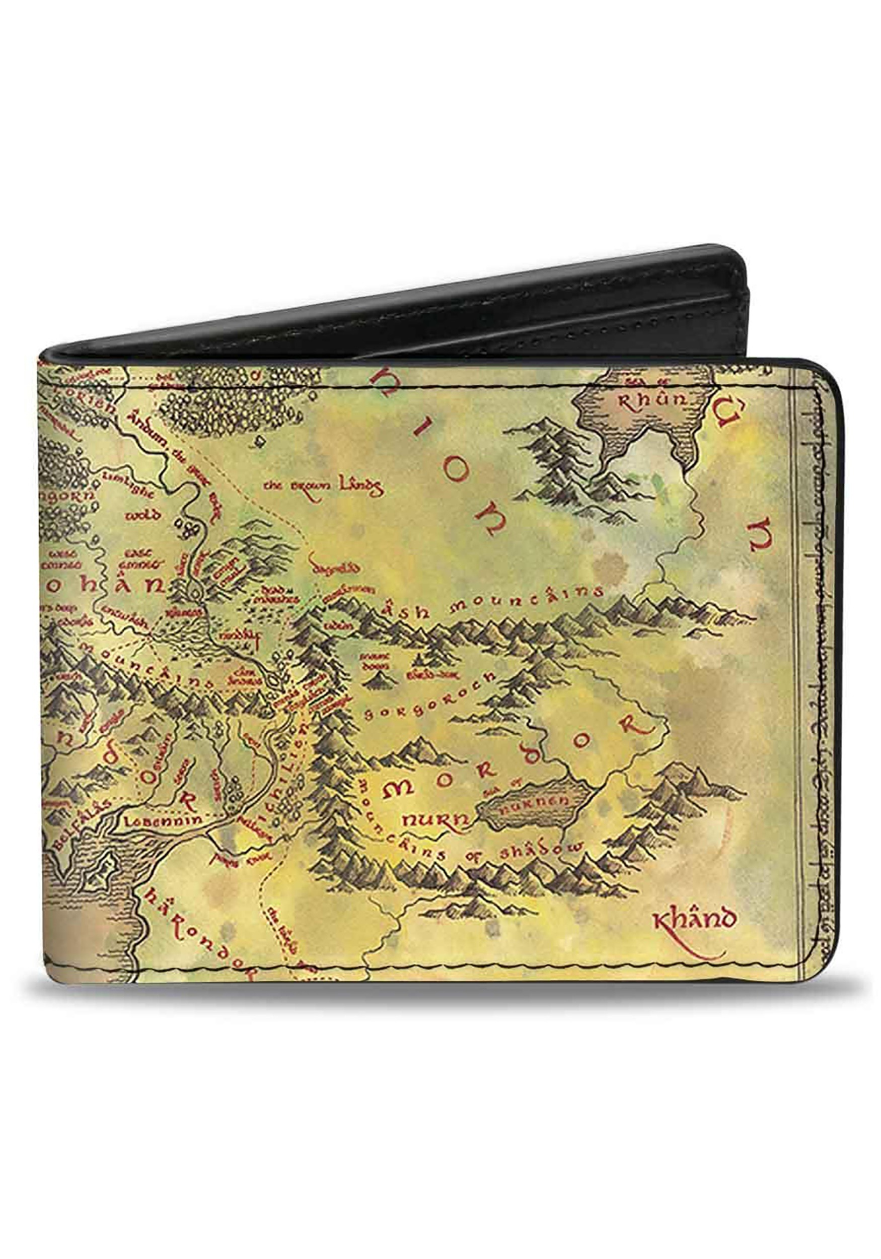 The Lord of the Rings Middle Earth Map Bi-Fold Wallet