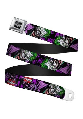 DC Comics Laughing Joker Seatbelt Buckle Belt Update1