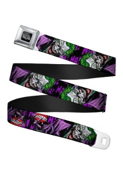 DC Comics Laughing Joker Seatbelt Buckle Belt Update1