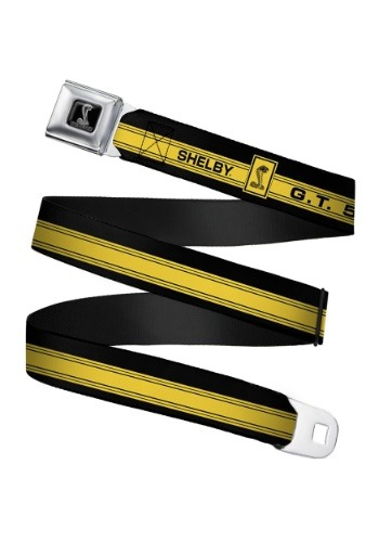 GT 500 Shelby Cobra Yellow Seatbelt Buckle Belt Update1