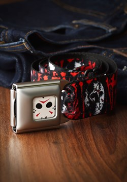 Friday the 13th Jason Mask Seatbelt Buckle Belt Upd