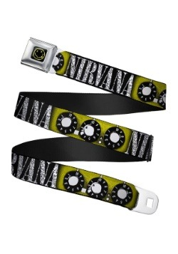 Nirvana Smiley Face Guitar Knobs Seatbelt Buckle Belt Update