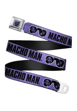 WWE Macho Man Randy Savage Sunglasses Seatbelt Buckle Belt U