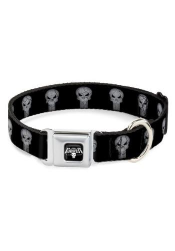 Marvel The Punisher Logo Black Seatbelt Buckle Dog Collar-