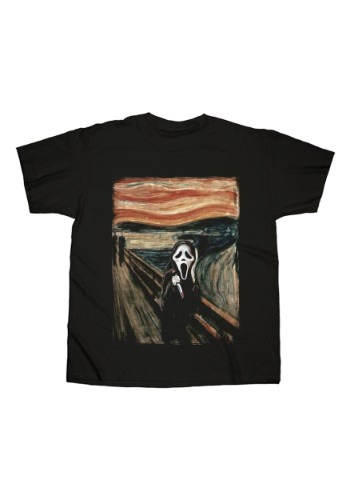 Mens Ghostface The Scream Painting Black T-Shirt