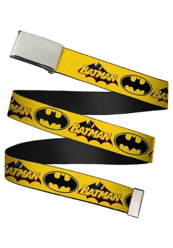 Vintage Batman Chrome Buckle Yellow Web Belt update 1