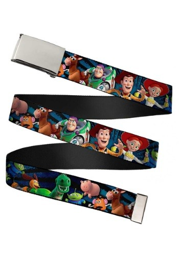 Toy Story Characters Chrome Buckle Web Belt update 1