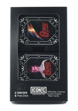 David Bowie Double Deck Playing Card Set with Dice