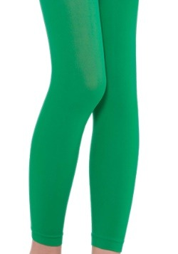 Child Green Footless Tights