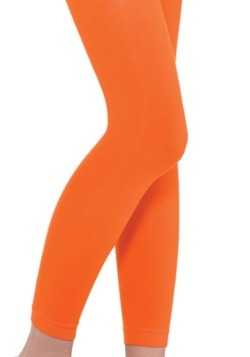 Child Orange Footless Leggings
