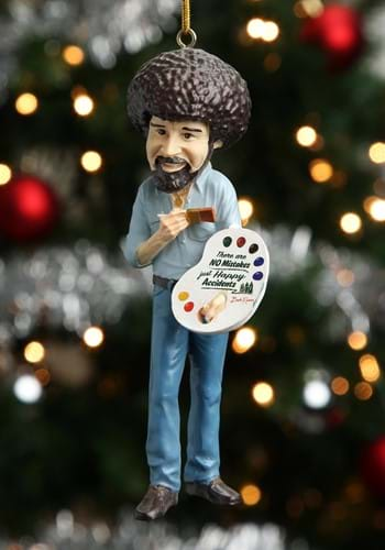 Bob Ross Molded Christmas Ornament