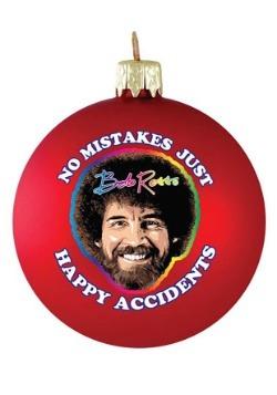 Bob Ross No Mistakes Glass Ball Christmas Ornament-update1