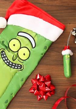 Pickle Rick Wears Santa Hat Molded Ornament alt1