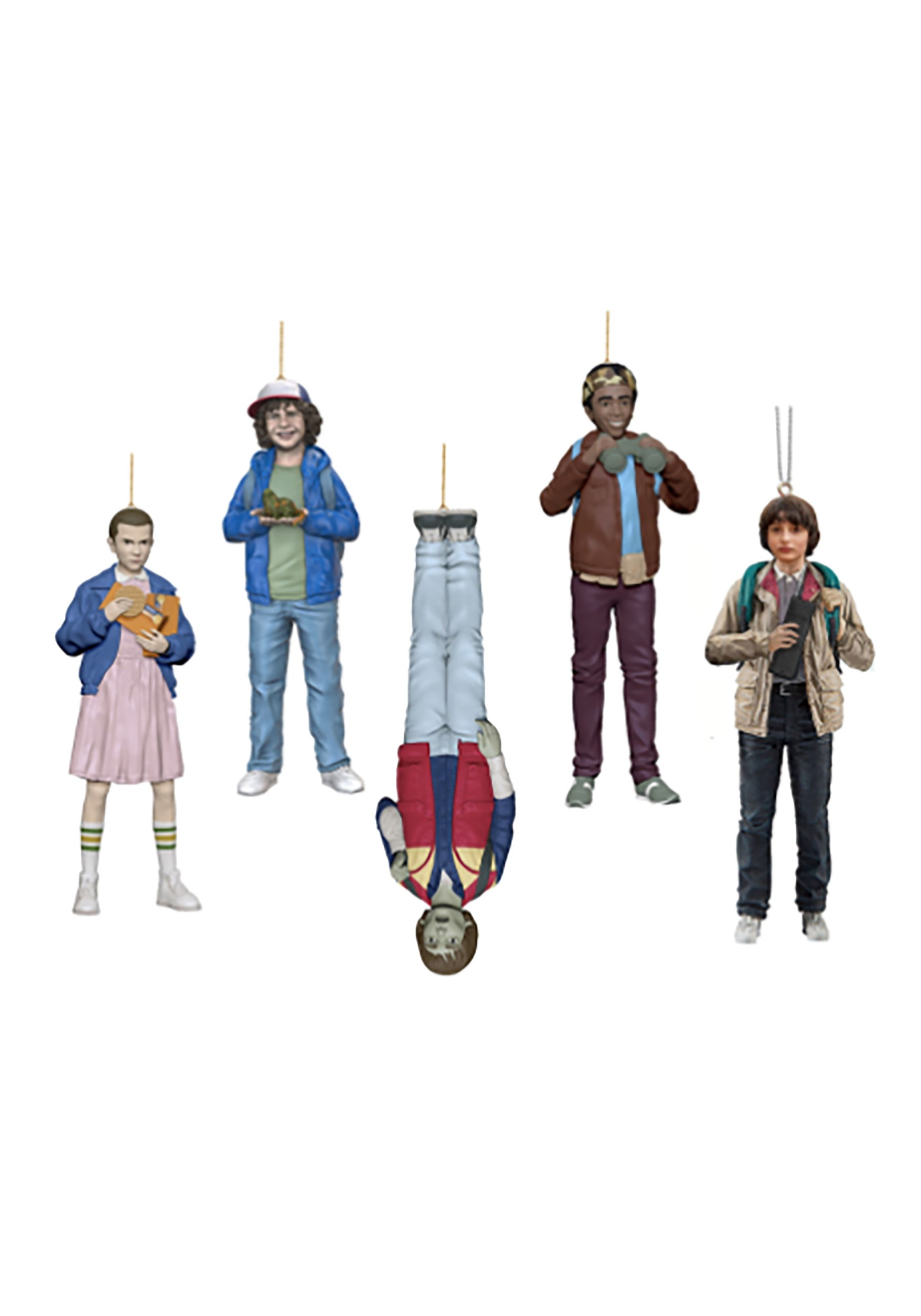 A Stranger Things Christmas.Stranger Things Resin Ornament 5 Piece Set